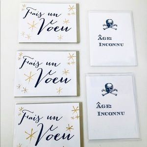 Lot of 5 Quality Birthday Greeting Cards (French)